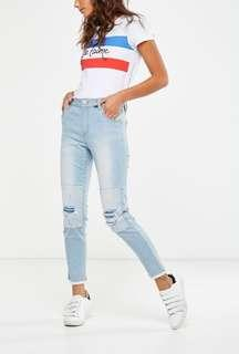 Cotton on mid rise grazer skinny jeans
