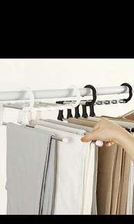 Space saving Pants hanger for cupboard