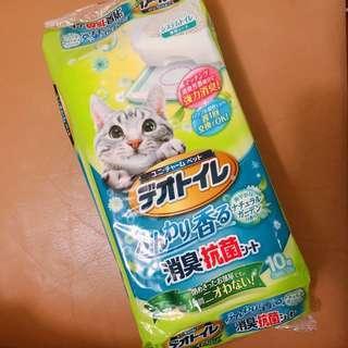 消臭大師 unicharm 寵物 貓 尿墊 尿片 10片 花香