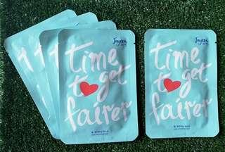 JAYEON FACIAL MASK [TIME T♥ GET FAIRER](5PCS)