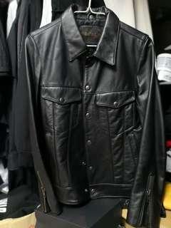 黃牛皮 荔枝皮 皮褸 Mr Fat Leather Jacket訂造 原價$4200