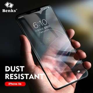 Benks Thin 0.15mm Tempered Glass For iPhone XS 5.8 ; XS MAX 6.5; XR 6.1 HD Full Cover Screen Protector Anti Blue Ray Front Film