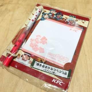 中古 日 忍者亂太朗 神奇memo紙、筆set