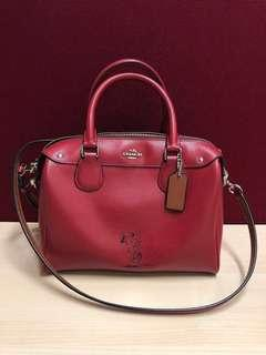 Coach x Peanuts Mini Bennett Satchel Leather Limited Edition