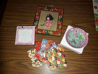 all for $10 japanese framed art and postcards