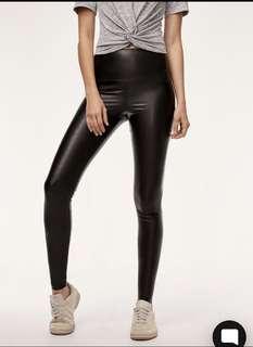 Aritzia Wilfred Daria Leather Leggings Pants