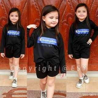 branded inspired hoody terno Free size 6-10years old (one 1 size only) 300 👉looking for more active and loyal resellers 👉all in one shop 👉direct and legit supplier since 2012