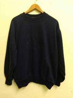 Rodhos Valentino Embroidery Logo Dark Blue Sweatshirt