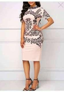 Plus size printed dress Free size (M to xl 1 size only) 300 👉looking for more active and loyal resellers 👉all in one shop 👉direct and legit supplier since 2012
