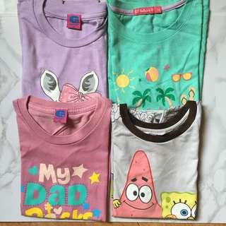 Set of Branded Tshirts for Young Girls
