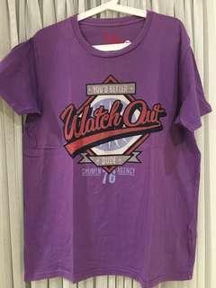PULL AND BEAR Tshirt Sz XL (purple)
