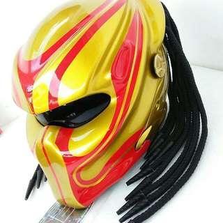 Helmet Red Gold Predators Helmet