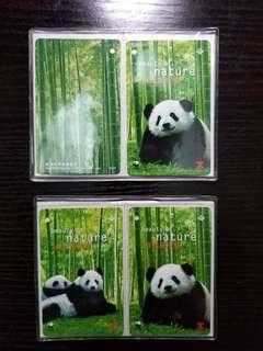 1997大熊貓Mtr地鐵紀念票一套4張