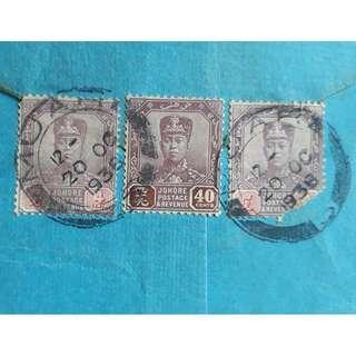 MUAR -> INDIA - 1936 - BIG SIZED BLUE POSTAL COVER - 8 Stamps - MALAYA - ml376