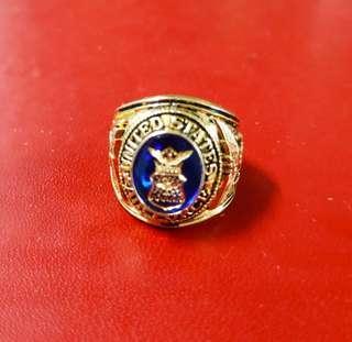 美國服役紀念戒指 榮譽團隊戒指 銅鍍金