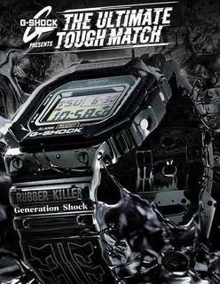 🚚 LIMITED🌟EDITION in GSHOCK CASIO DIVER WATCH : 1-YEAR WARRANTY: 100% Original Authentic G-SHOCK in RUBBER KILLER in Best For Most Rough Users & Unisex: DW-5600E-1DR / DW5600E / DW5600 / DW-5600 / DW5600 / DW-5600BB / GX-56 / GX56BB / DW-5600BB