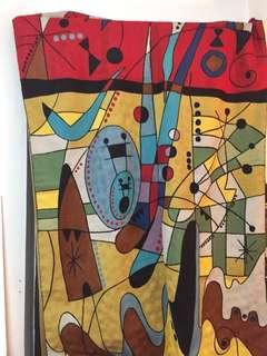 Hand-Knotted Wool Wall Hanging in the style of Spanish Painter Joan Miro; Modern Piece from Kashmir.
