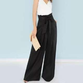 Black long pants L