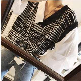 Black&White Sweater/Shirt -Chic Top-