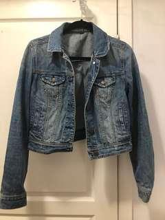 American eagle jean jacket size medium