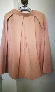 Nude Pleated Skirt