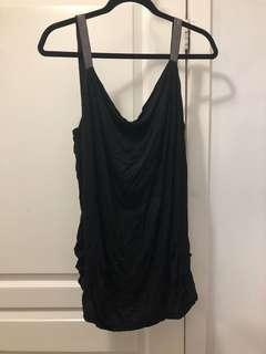 Bebe black tank with sequins
