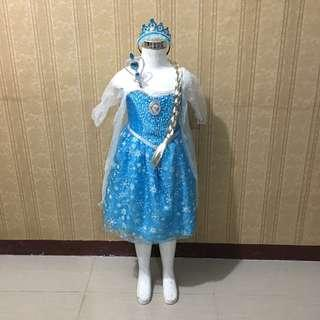 Elsa Dress with Light And Music