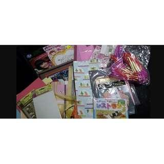 [Sales] Art & Crats DIY Set - Sticker, Paper, Ribbon, Stitch, Cross Design, HP Glossy Photo Paper etc