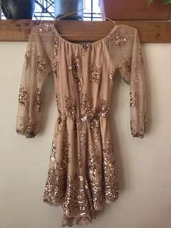 mura boutique golden playsuit