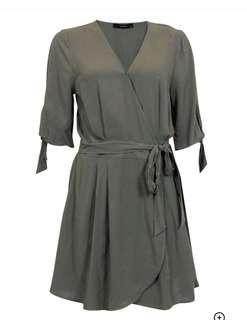 Khaki Wrap Dress NEW