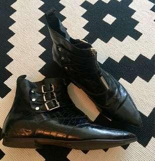 Paruolo Croc Ankle Boots (Argentinian Brand)