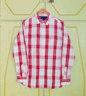 Authentic Tommy Hilfiger Check LS Button Down Shirt