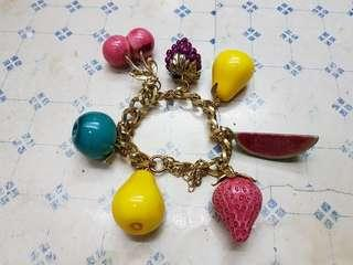 Aldo Fruit Bracelet Gold Chain