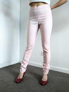 H&M pale pink skinny jeans jeggings size 12