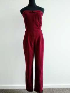 Dynamite dark red jumpsuit size 6-8