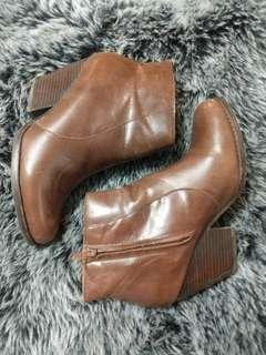 Brown Leather Booties (Jeffrey Campbell)