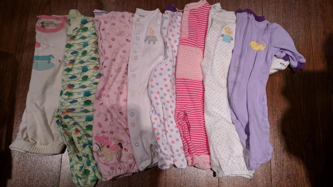 0-6 months cotton sleepers