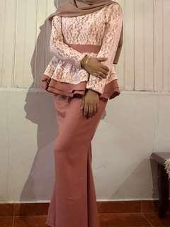 Lace Top with Long Mermaid Skirt