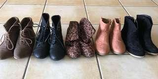 Girls bundle of boots