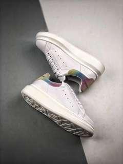 Alexander McQueen Oversized Sneakers 'White / Rainbow'