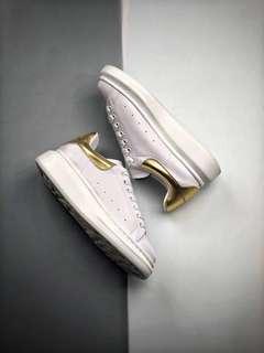 Alexander McQueen Oversized Sneakers 'White / Gold'
