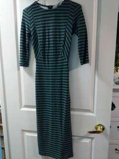 Striped Midi Sweater Dress
