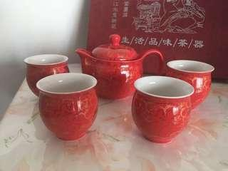 Wedding double happiness Chinese Tea Set 結婚囍字敬茶茶杯套裝