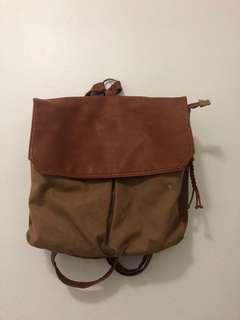 """URBAN OUTFITTERS - """"Cooperative"""" Leather Backpack"""