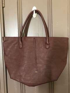 HnM maroon bag
