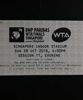 WTA Finals tickets x 2