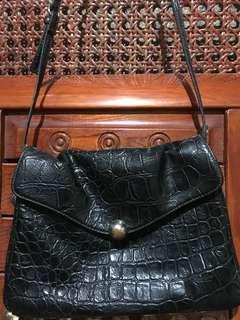 MANGO Croc Sling bag