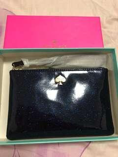 Kate Spade midnight blue (glittery) pouch
