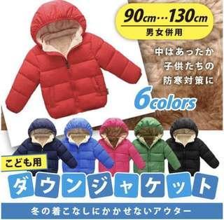 日本直送 返學冬天必備 夾棉保暖防寒外套 jacket  原裝日本直送,6色可選 可手洗,帽可拆,防風一流 顏色好靚 年年賣斷貨,識貨媽媽快D買定過冬啦 $255 付款後7個工作天順豐寄出