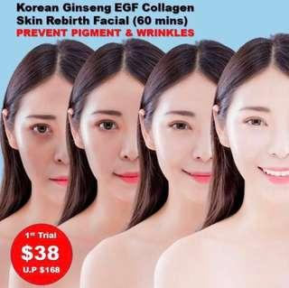 Awarded Nobel Prize Discovery Korean Ginseng EGF (Epidermal Growth Factor) Skin Rebirth Collagen Facial